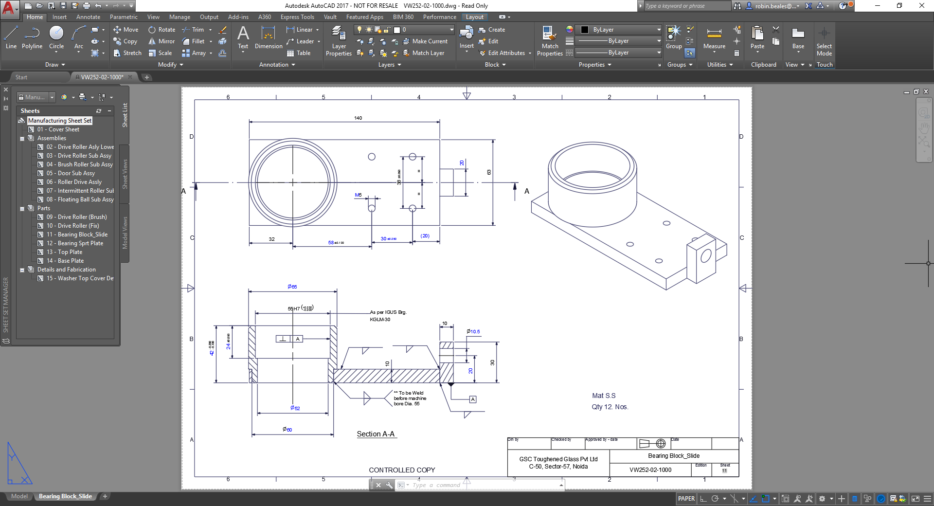 6 months Autocad 2d 3d | catia | cnc programming | solid works | cre